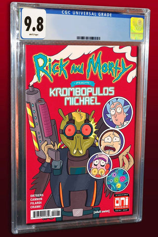 RICK & MORTY PRESENTS KROMBOPULOUS MICHAEL #1 MARC ELLERBY NEW MUTANTS #98 HOMAGE LIMITED TO 1000 CGC 9.8 PREORDER