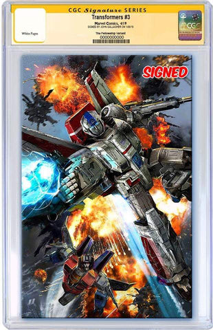 TRANSFORMERS #3 JOHN GALLAGHER VIRGIN VARIANT LIMITED TO 600 CGC SS PREORDER