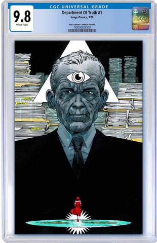 DEPARTMENT OF TRUTH #1 DECLAN SHALVEY VIRGIN VARIANT LIMITED TO 300 COPIES CGC 9.8 PREORDER
