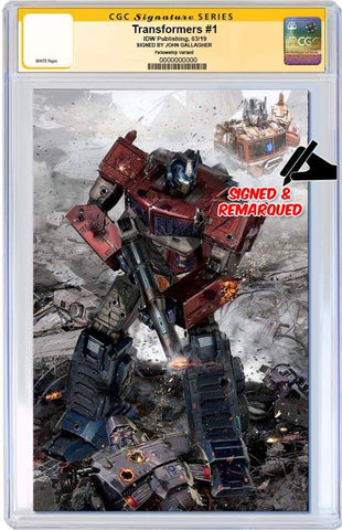 TRANSFORMERS #1 JOHN GALLAGHER VIRGIN VARIANT LIMITED TO 600 CGC REMARK PREORDER