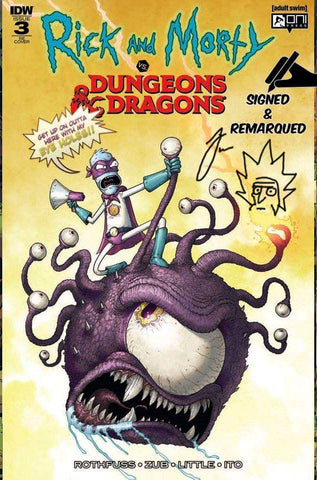 RICK & MORTY VS DUNGEONS & DRAGONS #3 (OF 4) MIKE VASQUEZ VARIANT LIMITED TO 500 COPIES SIGNED & REMARQUED