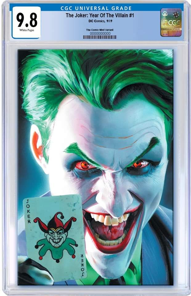 JOKER YEAR OF THE VILLAIN #1 MIKE MAYHEW VIRGIN VARIANT LIMITED TO 600 CGC 9.8 PREORDER