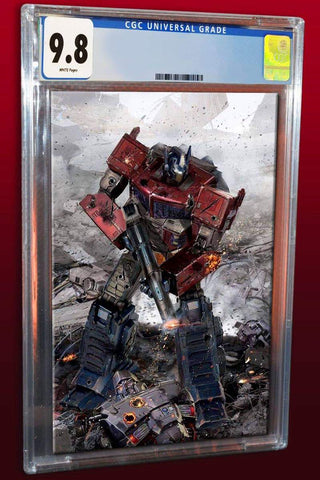 TRANSFORMERS #1 JOHN GALLAGHER VIRGIN VARIANT LIMITED TO 600 CGC 9.8 (IN HAND)