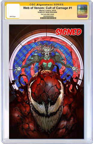 WEB OF VENOM CULT OF CARNAGE #1 SKAN SRISUWAN VIRGIN VARIANT LIMITED TO 800 CGC SS PREORDER