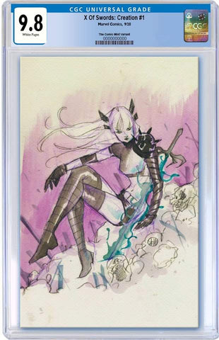 X OF SWORDS CREATION #1 PEACH MOMOKO NYCC WEEK VIRGIN SKETCH VARIANT LIMITED TO 1500 CGC 9.8 PREORDER