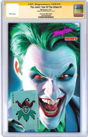 JOKER YEAR OF THE VILLAIN #1 MIKE MAYHEW VIRGIN VARIANT LIMITED TO 600 CGC SS PREORDER