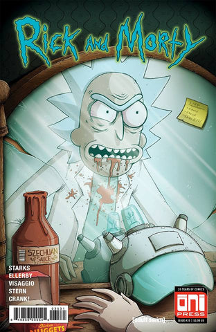 RICK & MORTY #35 EXCLUSIVE MIKE VASQUEZ DEMON IN A BOTTLE HOMAGE LIMITED TO 1000 COPIES