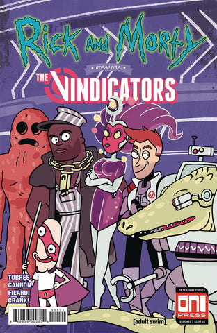 RICK & MORTY PRESENTS THE VINDICATORS #1 CVR B 1ST APP PICKLE RICK