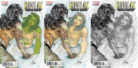 NOW HULK #1 SIYA OUM THE '500' VARIANT SETS (ALL 3 COVERS) - Sad Lemon Comics