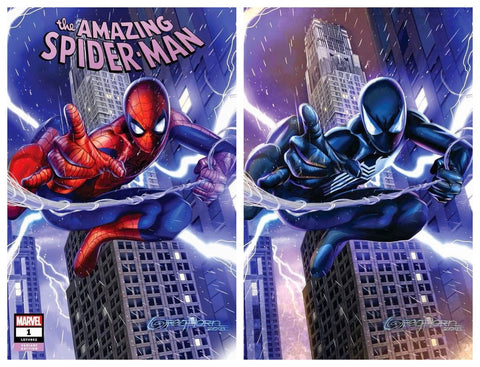 AMAZING SPIDER-MAN #1 GREG HORN TRADE DRESS/BLACK SUIT VIRGIN VARIANT SET LIMITED TO 1000 SETS