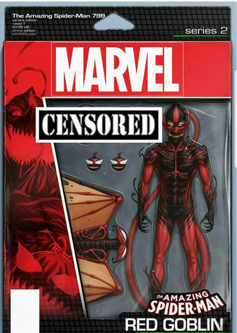 AMAZING SPIDER-MAN #799 JOHN TYLER CHRISTOPHER RED GOBLIN ACTION FIGURE VARIANT