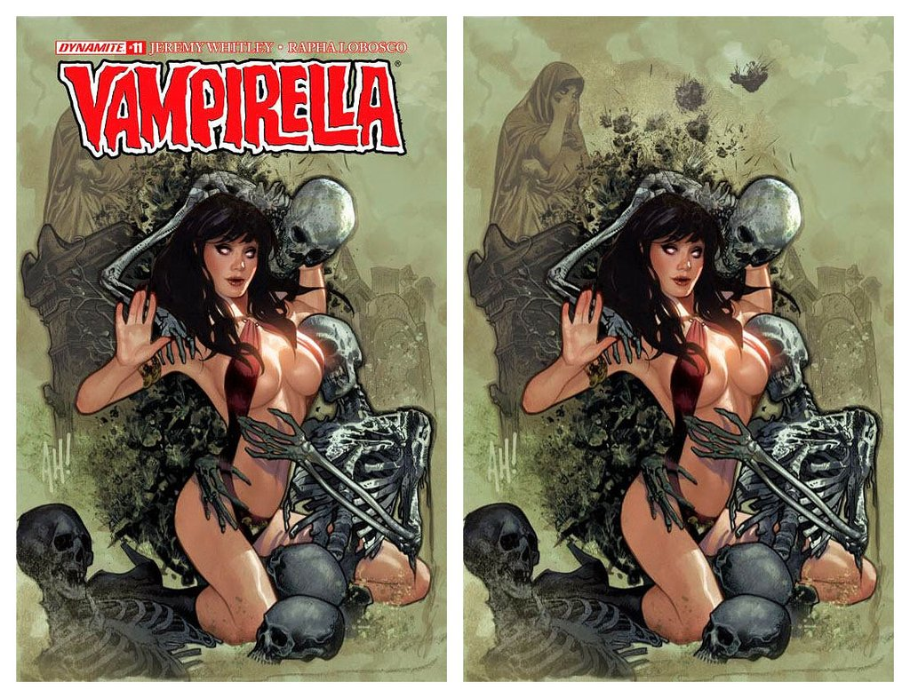 VAMPIRELLA #11 ADAM HUGHES TRADE/VIRGIN VARIANT SETS