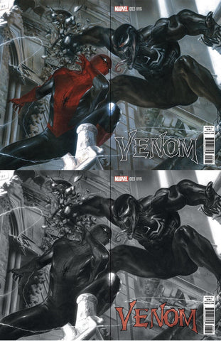 NOW VENOM #3 GABRIELE DELL'OTTO VARIANT COLOUR & BW - Sad Lemon Comics