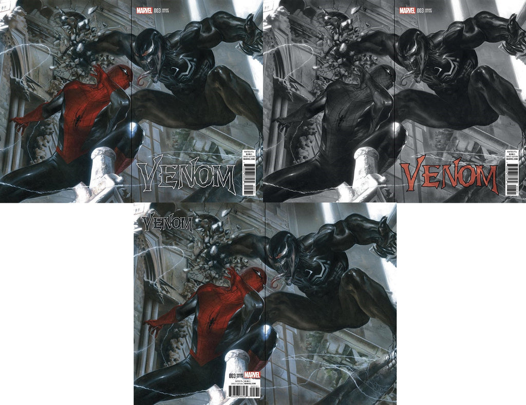 NOW VENOM #3 GABRIELE DELL'OTTO COLOR B&W VIRGIN VARIANT SETS - Sad Lemon Comics