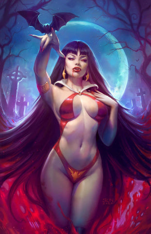 VAMPIRELLA #9 SUN KHAMUNAKI VIRGIN VARIANT LIMITED TO 500 COPIES