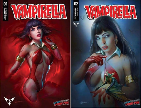 VAMPIRELLA #1 & #2 SHANNON MAER NYCC TRADE DRESS VARIANT SET LIMITED TO 500 SETS