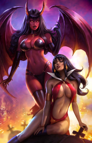 VAMPIRELLA VS PURGATORI #1 SUN KHAMUNAKI VIRGIN VARIANT LIMITED TO 500