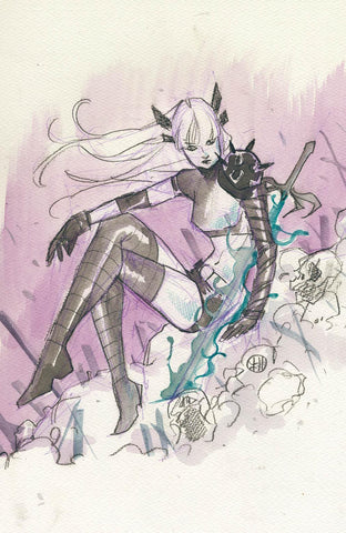 X OF SWORDS CREATION #1 PEACH MOMOKO NYCC WEEK VIRGIN SKETCH VARIANT LIMITED TO 1500