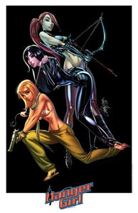 "7 Ate 9 Comics Art Print DANGER GIRL: Trinity By J SCOTT CAMPBELL Print 11""x17"""