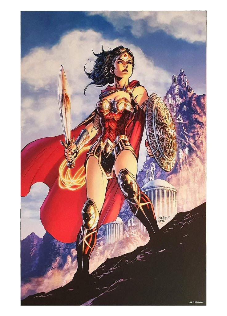 "7 Ate 9 Comics Art Print WONDER WOMAN By Jim Lee Print 12""x16"""