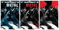 7 Ate 9 Comics Comic BATMAN DARK NIGHTS: METAL #1 KRS Comics JOCK Colour, BW & Virgin Variant Set.