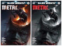 7 Ate 9 Comics Comic BATMAN DARK NIGHTS: METAL #5 Francesco Mattina Trade Dress and B&W Variant Set