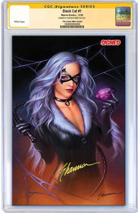 7 Ate 9 Comics Comic BLACK CAT #1 CGC SIGNED Shannon Maer Virgin Variant