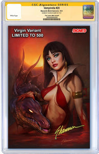 7 Ate 9 Comics Comic CGC SIGNED Metal Virgin Variant - Limited To 150 VAMPIRELLA #20 CGC SIGNED Shannon Maer Virgin Variants - COVER OPTIONS