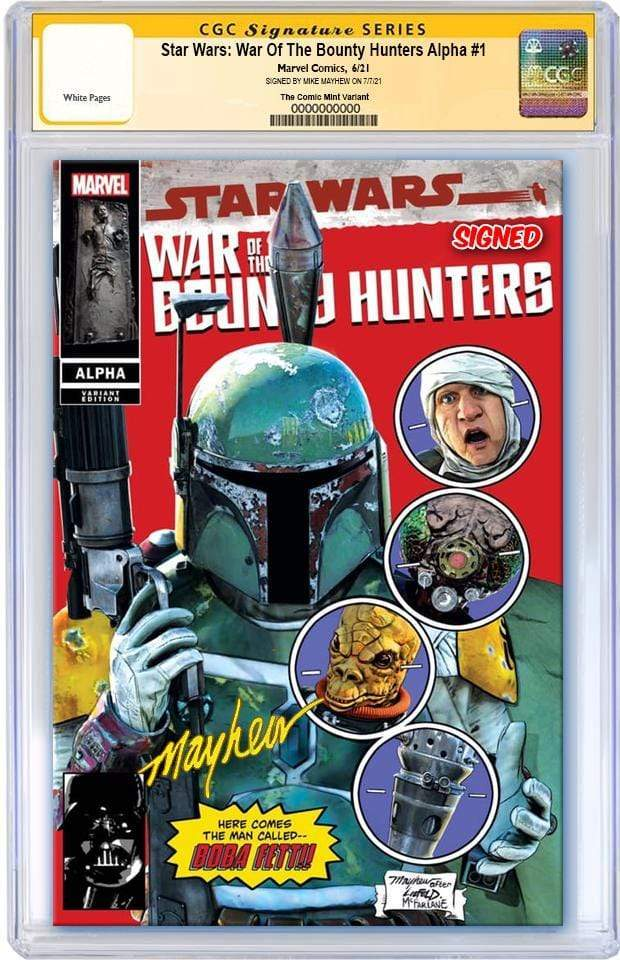 7 Ate 9 Comics Comic CGC SIGNED Red Trade Dress STAR WARS: WAR OF THE BOUNTY HUNTERS ALPHA #1 CGC SIGNED Mike Mayhew - New Mutants #87 Homage Variants - COVER OPTIONS