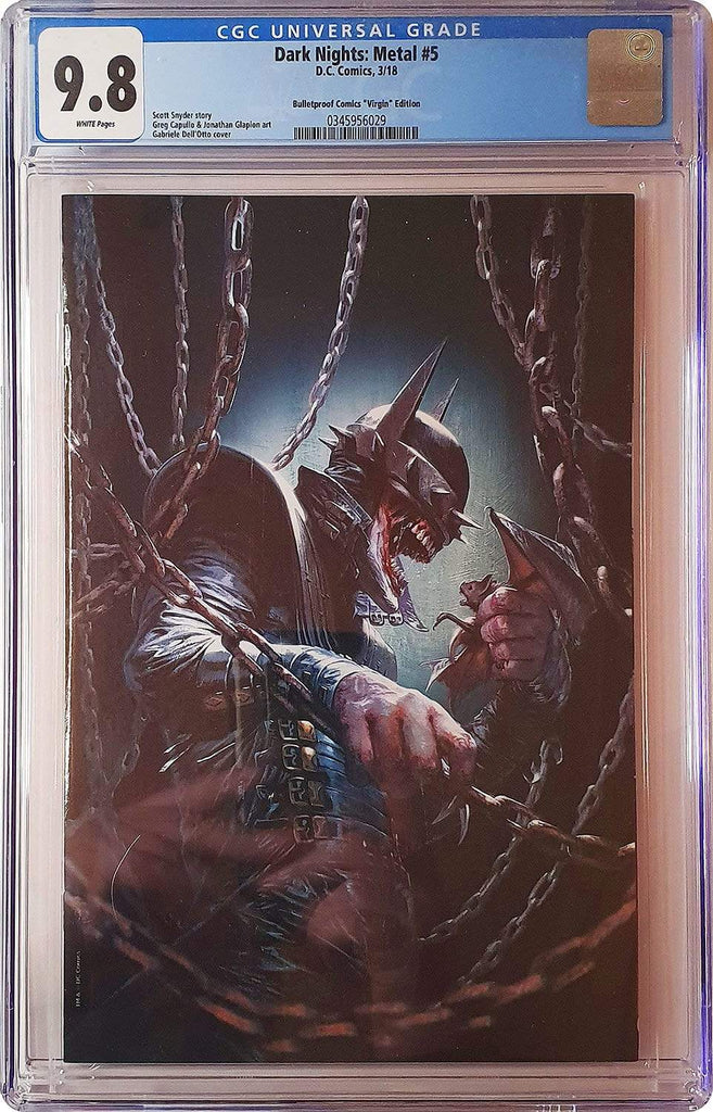 7 Ate 9 Comics Comic DARK NIGHTS METAL #5 Gabriele Dell'Otto Virgin Variant Cover