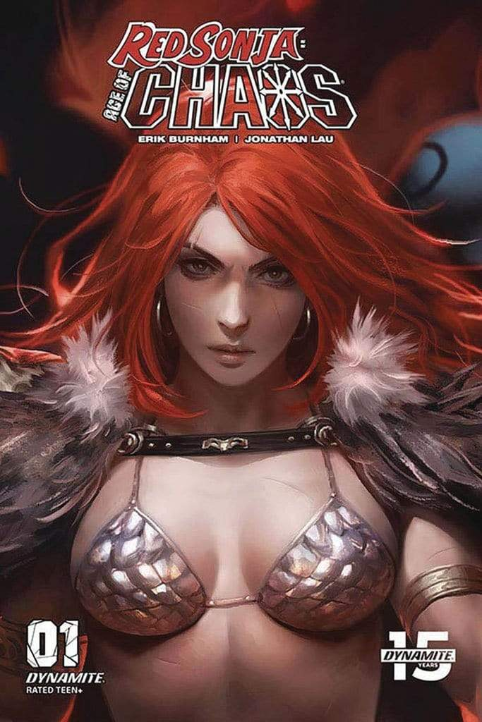 7 Ate 9 Comics Comic RED SONJA AGE OF CHAOS #1 1:10 Derrick Chew Variant Cover