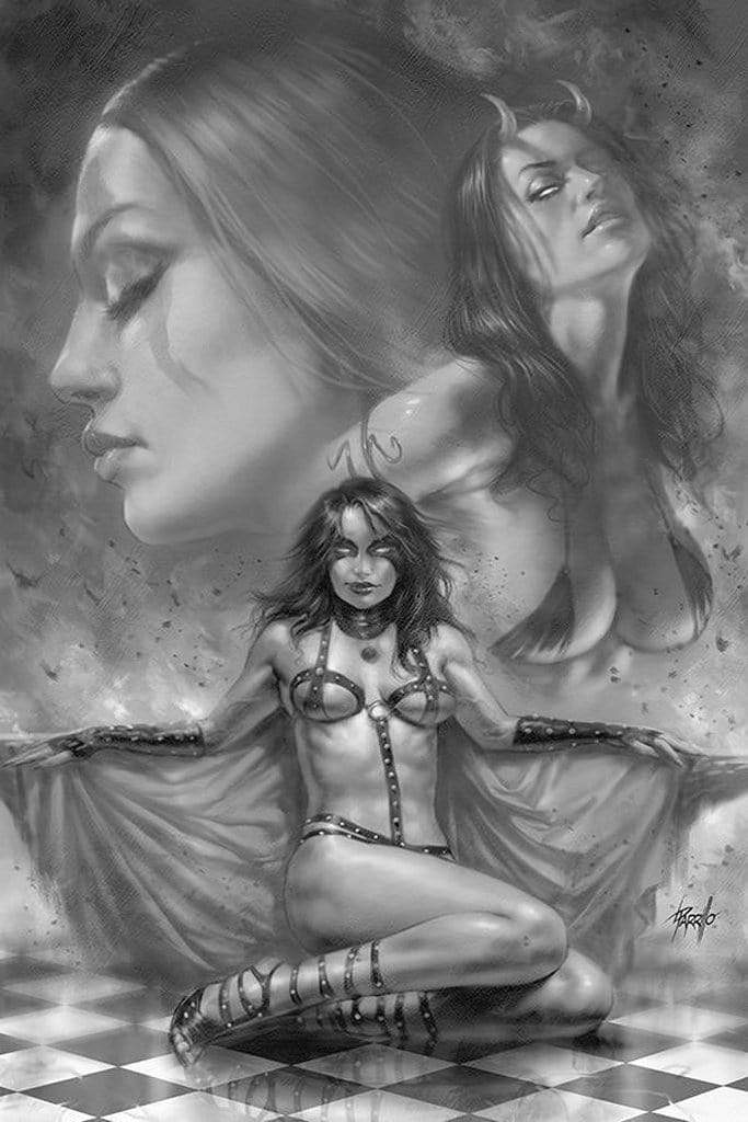 7 Ate 9 Comics Comic RED SONJA AGE OF CHAOS #2 1:15 Parrillo B&W Virgin Variant Cover