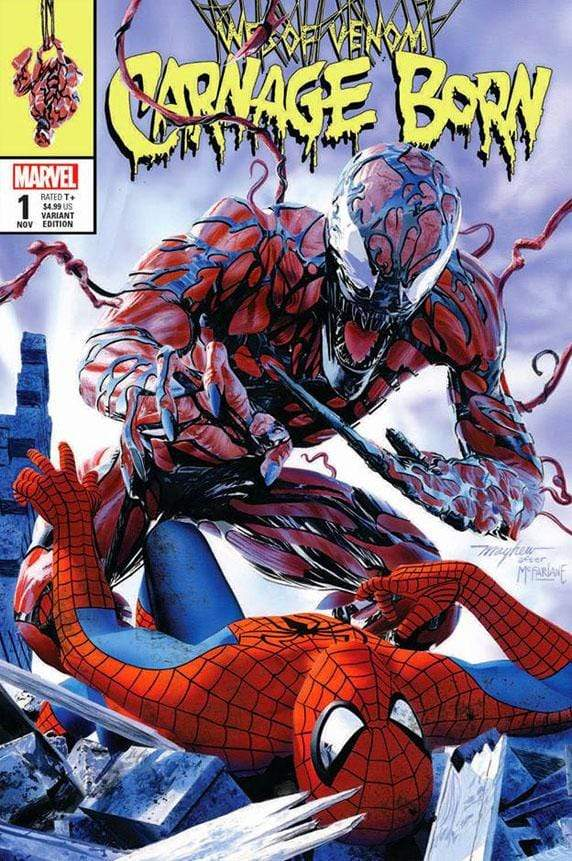 7 Ate 9 Comics Comic WEB OF VENOM: CARNAGE BORN #1 Mike Mayhew Spider-Man Variant Cover