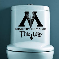 Ministry Of Magic Bathroom Sticker - 50% OFF