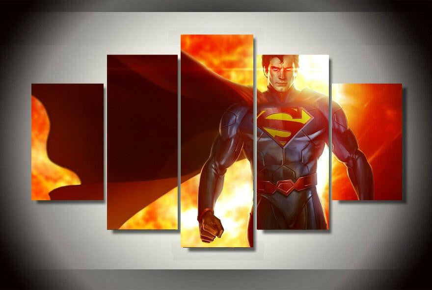 Man Of Steel Multiple Piece Canvas LIMITED EDITION - The Nerd Cave