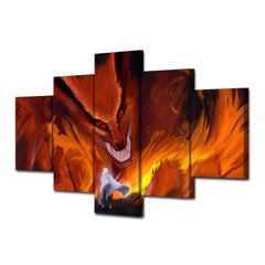 Nine Tails -  5 Piece Canvas LIMITED EDITION - The Nerd Cave - 2