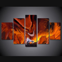 Nine Tails -  5 Piece Canvas LIMITED EDITION - The Nerd Cave - 1