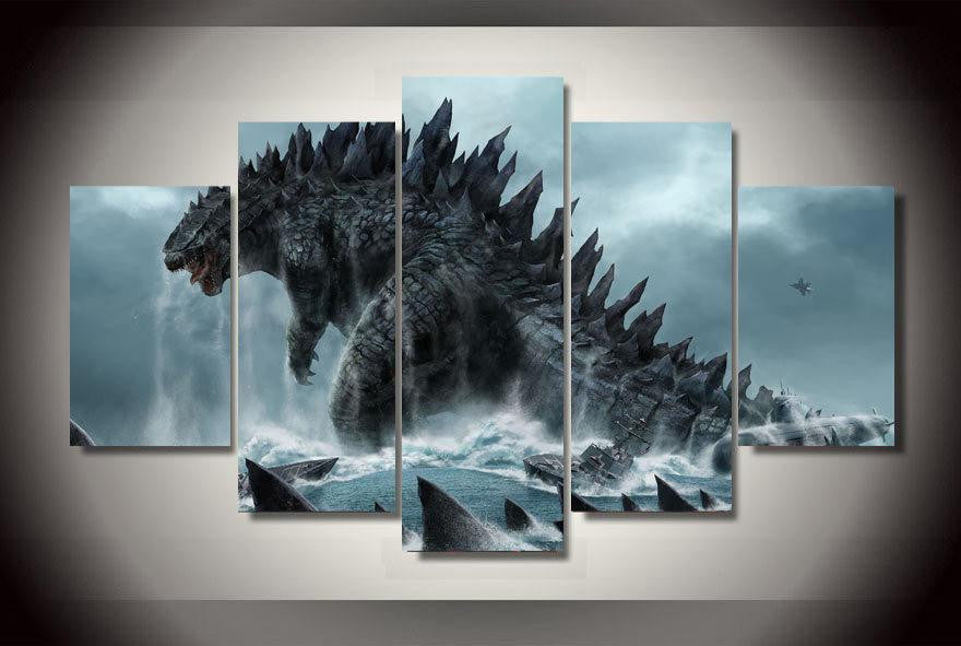 Godzilla 5 Piece Canvas LIMITED EDITION - The Nerd Cave