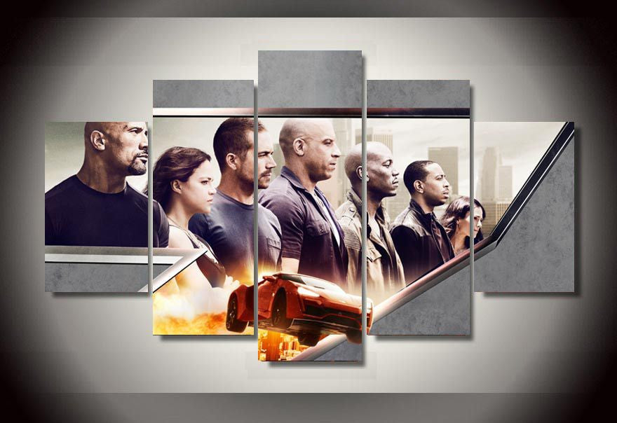 Fast and Furious 7 - 5 Piece Canvas LIMITED EDITION - The Nerd Cave - 1