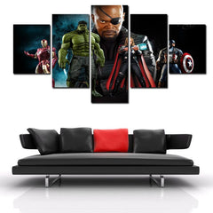 The Avengers - Nick Fury 5 Piece Canvas LIMITED EDITION - The Nerd Cave - 4