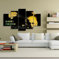 Albert Einstein 5 Piece Canvas