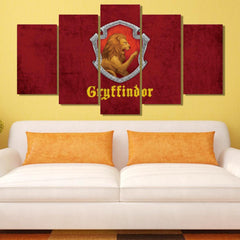 Gryffindor 5 Piece Canvas