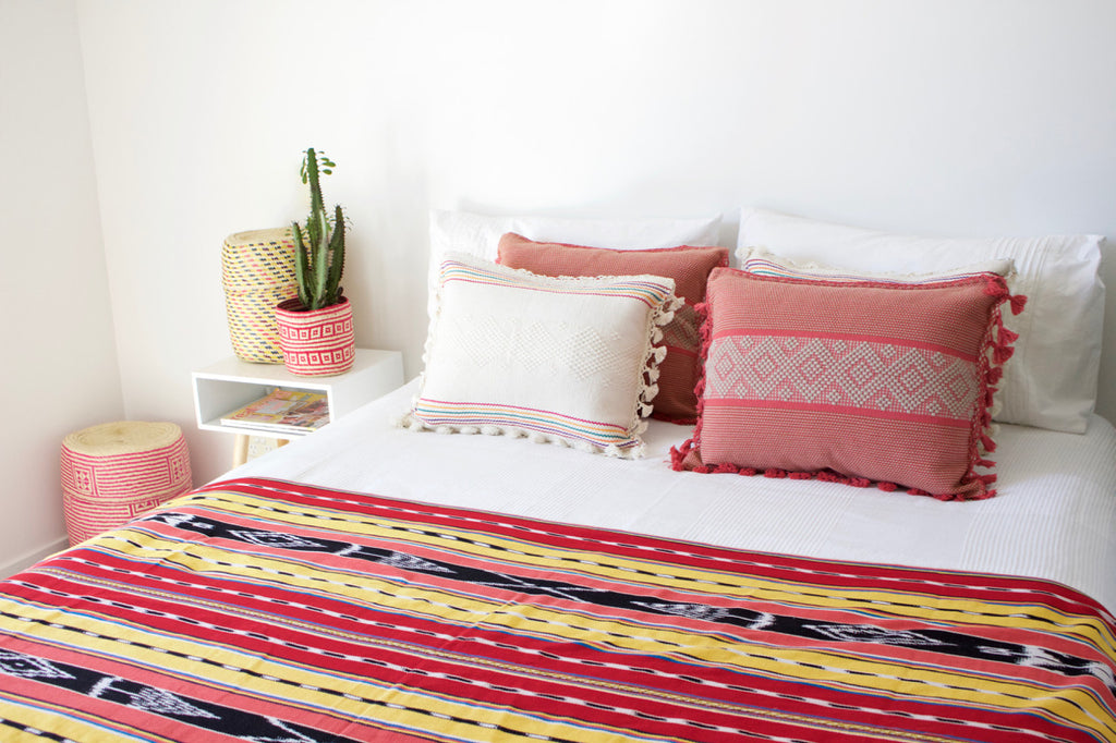Dulce Ikat Throw Jalieza Cushions Cielo Collective