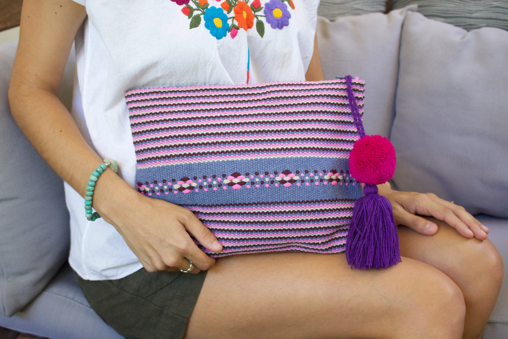 cielo collective jalieza striped clutch