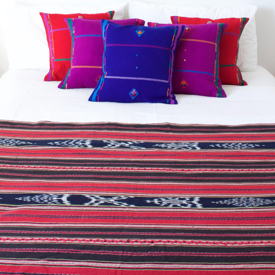 Ikat Throw  Throw Amor - Cielo Collective handmade Mexico Guatemala