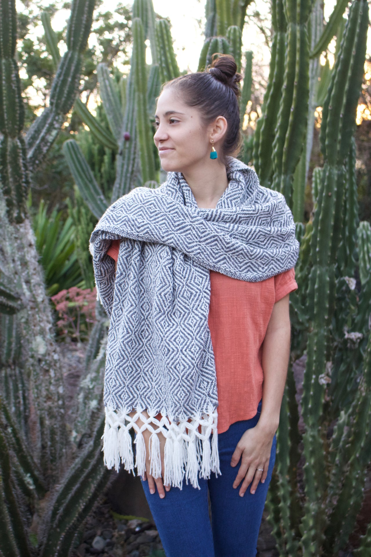 Tierras Altas Cotton Shawl