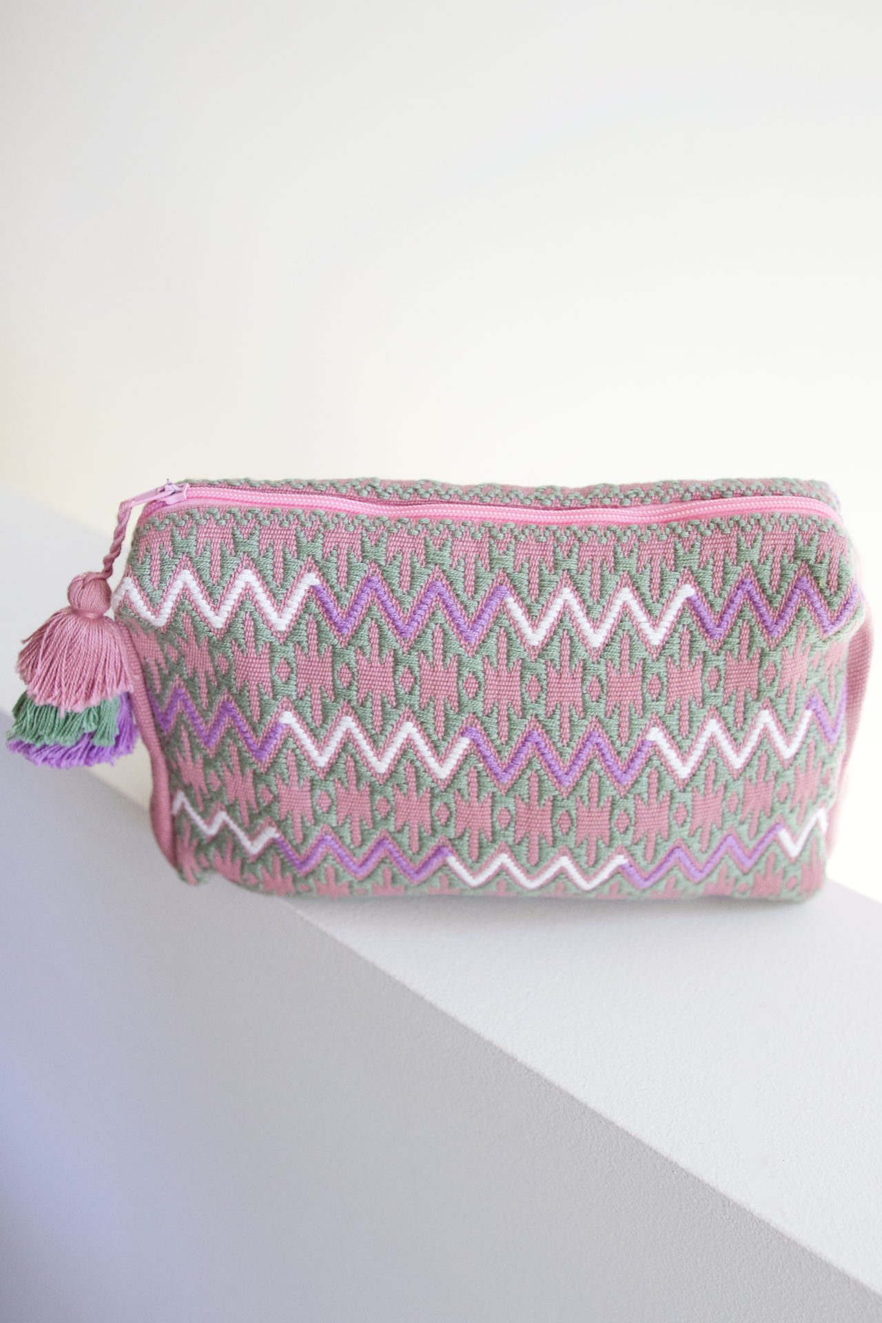 Viaje Pouch  Travel Pouch Pink - Cielo Collective handmade Mexico Guatemala