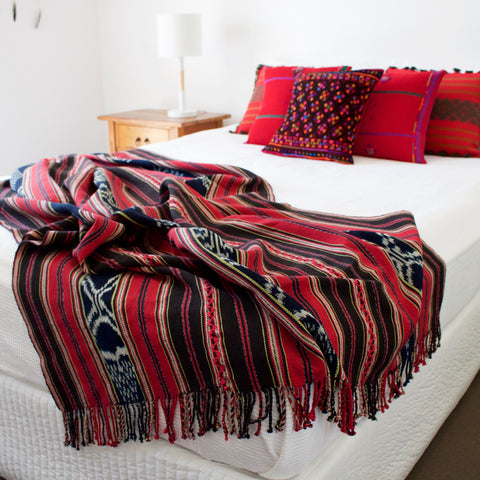 Blankets Throws Cielo Collective Simple Red Throw Blanket Australia