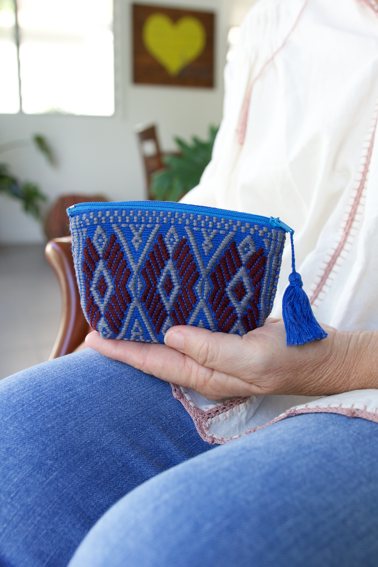 Andres Coin Pouch 07  Coin Pouch Blue - Cielo Collective handmade Mexico Guatemala