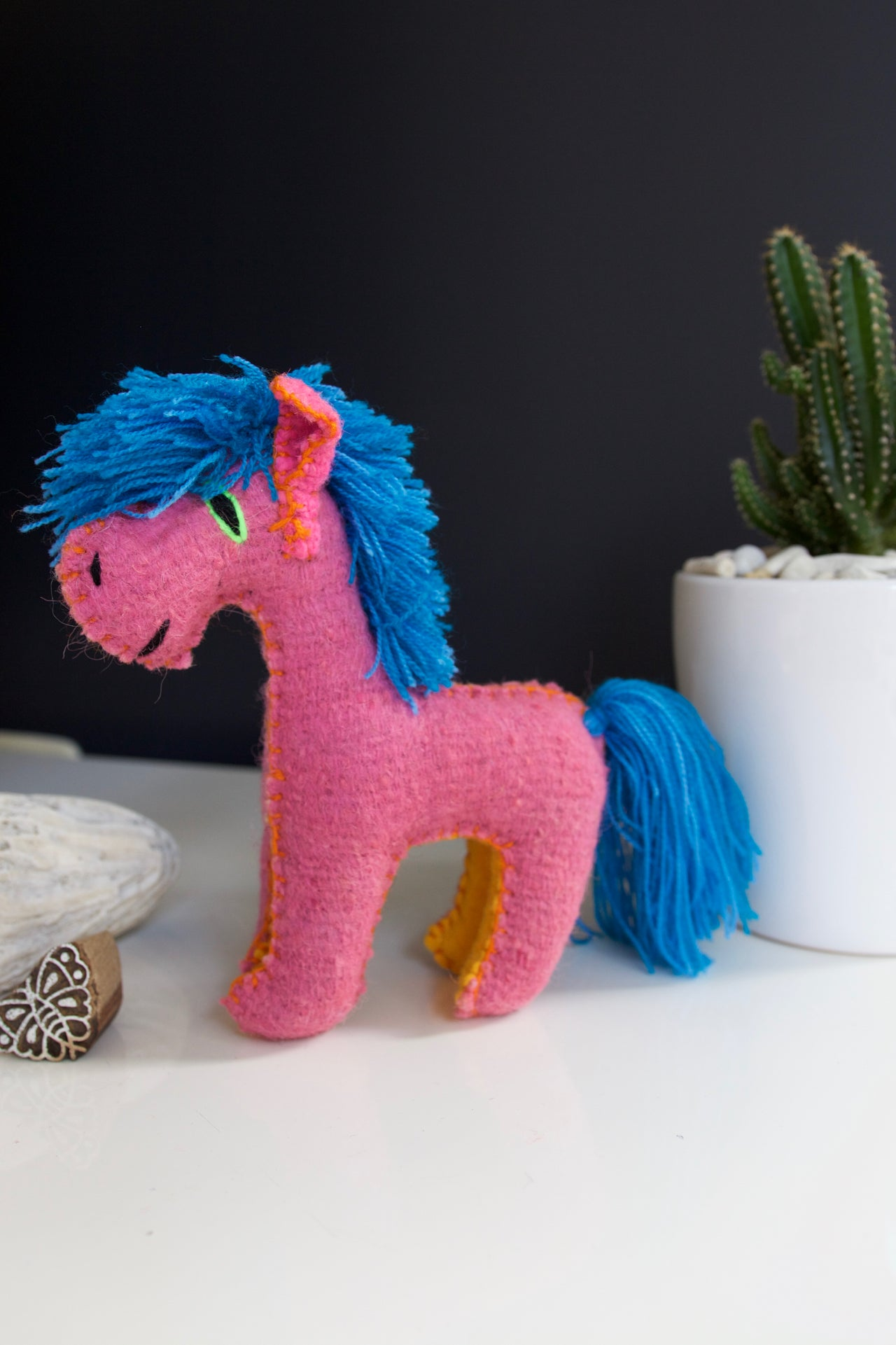 Animalito Horse  Decor Pink - Cielo Collective handmade Mexico Guatemala